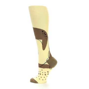 Image of Brown Tan Cheetah Women's Knee High Socks (side-2-13)