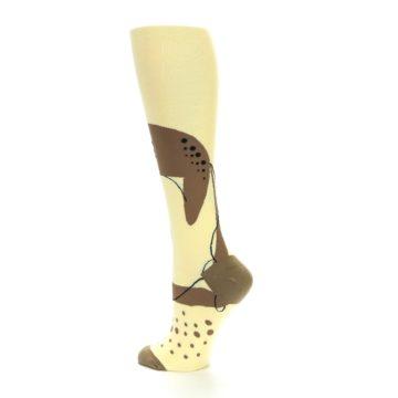 Image of Brown Tan Cheetah Women's Knee High Socks (side-2-back-14)