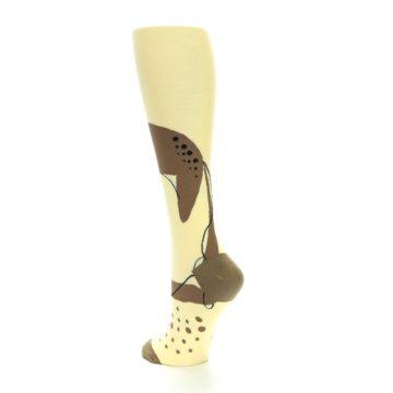 Image of Brown Tan Cheetah Women's Knee High Socks (side-2-back-15)