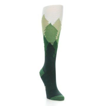 Image of Green Fir Trees Women's Knee High Socks (side-1-front-02)
