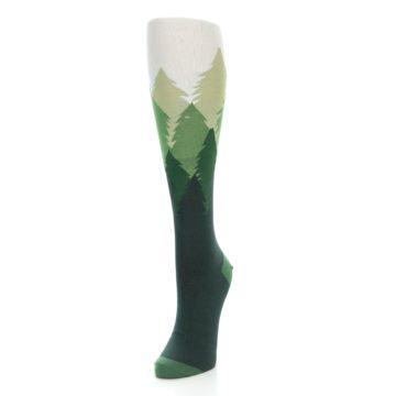 Image of Green Fir Trees Women's Knee High Socks (side-2-front-07)