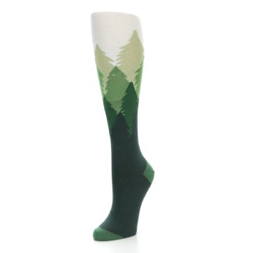 Image of Green Fir Trees Women's Knee High Socks (side-2-front-08)