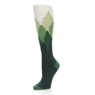 Image of Green Fir Trees Women's Knee High Socks (side-2-09)