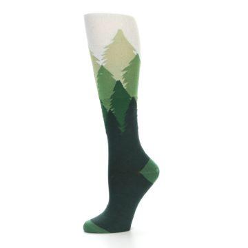 Image of Green Fir Trees Women's Knee High Socks (side-2-10)
