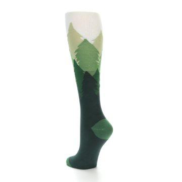 Image of Green Fir Trees Women's Knee High Socks (side-2-back-14)