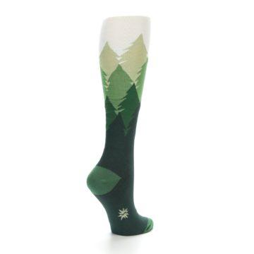 Image of Green Fir Trees Women's Knee High Socks (side-1-back-21)