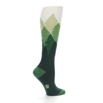 Image of Green Fir Trees Women's Knee High Socks (side-1-23)