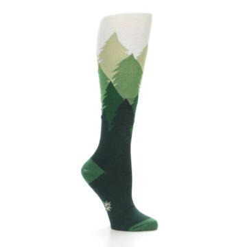 Image of Green Fir Trees Women's Knee High Socks (side-1-25)