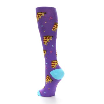 Image of Purple Blue Pizzas Women's Knee High Socks (side-2-back-14)