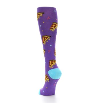 Image of Purple Blue Pizzas Women's Knee High Socks (side-2-back-15)