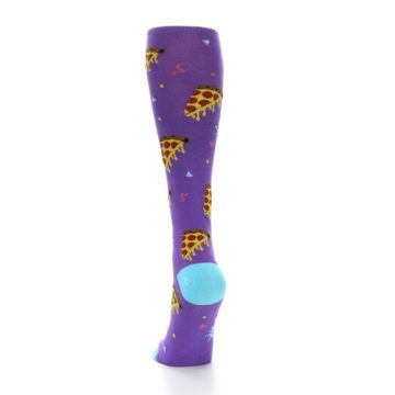 Image of Purple Blue Pizzas Women's Knee High Socks (side-2-back-16)