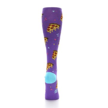 Image of Purple Blue Pizzas Women's Knee High Socks (back-18)