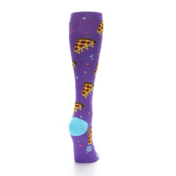 Image of Purple Blue Pizzas Women's Knee High Socks (back-19)
