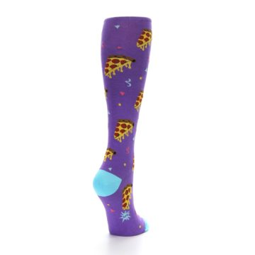 Image of Purple Blue Pizzas Women's Knee High Socks (side-1-back-20)