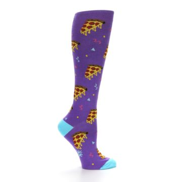 Image of Purple Blue Pizzas Women's Knee High Socks (side-1-24)
