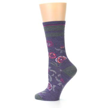 Image of Desert Purple Floral Wool Women's Casual Socks (side-2-12)