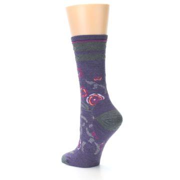 Image of Desert Purple Floral Wool Women's Casual Socks (side-2-back-14)