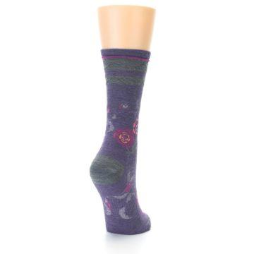 Image of Desert Purple Floral Wool Women's Casual Socks (side-1-back-20)