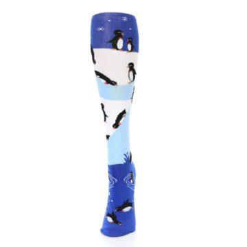 Image of Blue White Penguins Women's Knee High Socks (side-2-front-06)