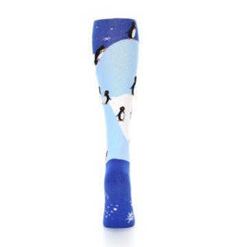Image of Blue White Penguins Women's Knee High Socks (back-19)