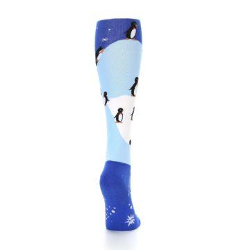 Image of Blue White Penguins Women's Knee High Socks (side-1-back-20)