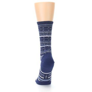 Image of Navy Stripe Wool Women's Casual Socks (back-17)