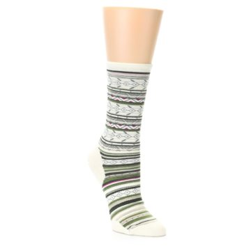 Smartwool Women's Ethno Graphic Natural Stripe Crew Socks