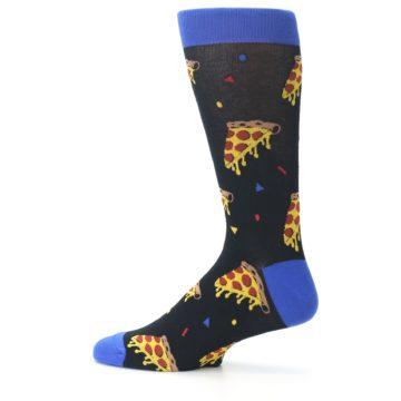 Image of Black Blue Pizza Men's Dress Socks (side-2-12)