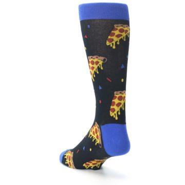 Image of Black Blue Pizza Men's Dress Socks (side-2-back-15)