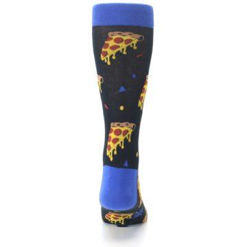 Image of Black Blue Pizza Men's Dress Socks (back-18)