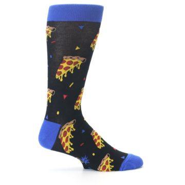 Image of Black Blue Pizza Men's Dress Socks (side-1-24)