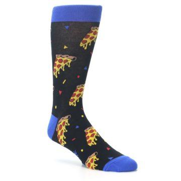 Image of Black Blue Pizza Men's Dress Socks (side-1-27)