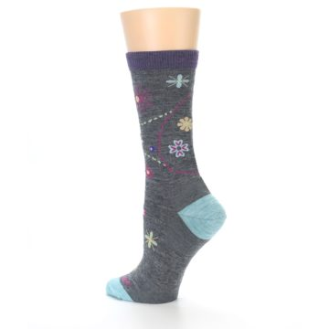Image of Grey Garden Floral Wool Women's Socks (side-2-back-14)
