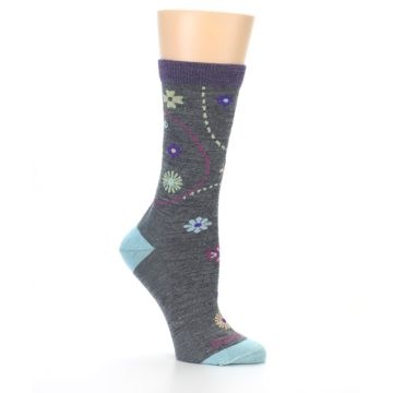 Image of Grey Garden Floral Wool Women's Socks (side-1-26)
