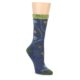 Image of Denim Blue Garden Floral Wool Women's Socks (side-1-front-01)