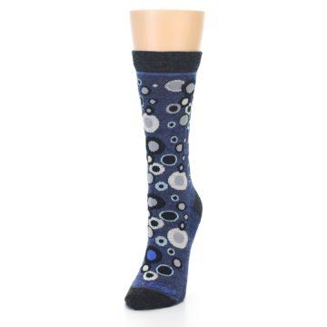 Image of Denim Bubbles Wool Women's Socks (side-2-front-07)