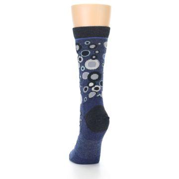 Image of Denim Bubbles Wool Women's Socks (back-17)