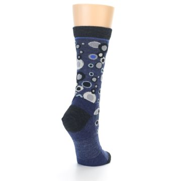 Image of Denim Bubbles Wool Women's Socks (side-1-back-21)