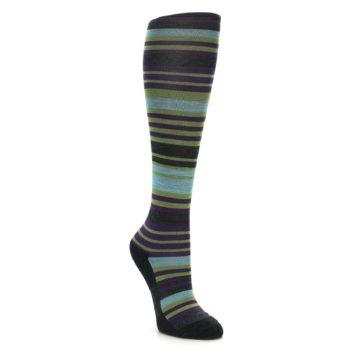 Darn Tough Women's Knee High Lime Stripe Socks