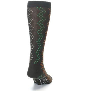 Image of Brown Zig-Zag Dots Men's Dress Socks (back-19)