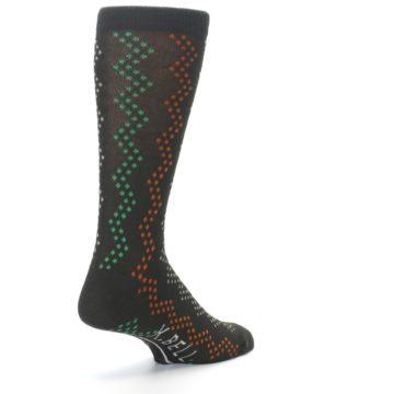 Image of Brown Zig-Zag Dots Men's Dress Socks (side-1-back-21)