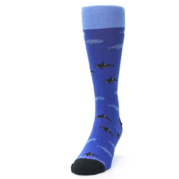Image of Blue Whales Men's Dress Socks (side-2-front-06)