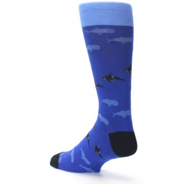 Image of Blue Whales Men's Dress Socks (side-2-back-14)