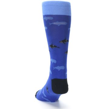 Image of Blue Whales Men's Dress Socks (side-2-back-16)