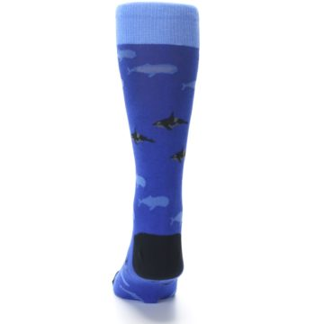 Image of Blue Whales Men's Dress Socks (back-17)