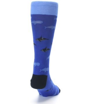 Image of Blue Whales Men's Dress Socks (back-19)