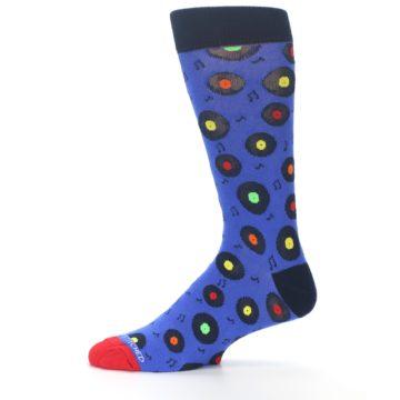 Image of Blue Multi Music Records Men's Dress Socks (side-2-11)