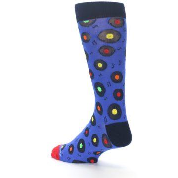 Image of Blue Multi Music Records Men's Dress Socks (side-2-back-14)
