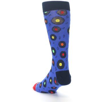 Image of Blue Multi Music Records Men's Dress Socks (side-2-back-15)
