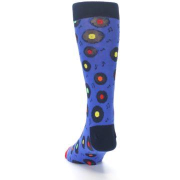 Image of Blue Multi Music Records Men's Dress Socks (side-2-back-16)